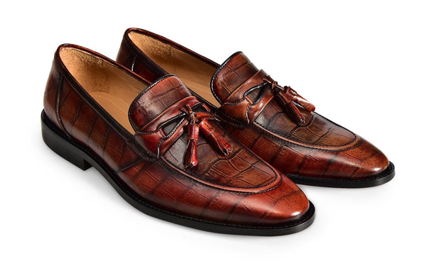 TOBACCO AGUDO TASSEL LOAFER