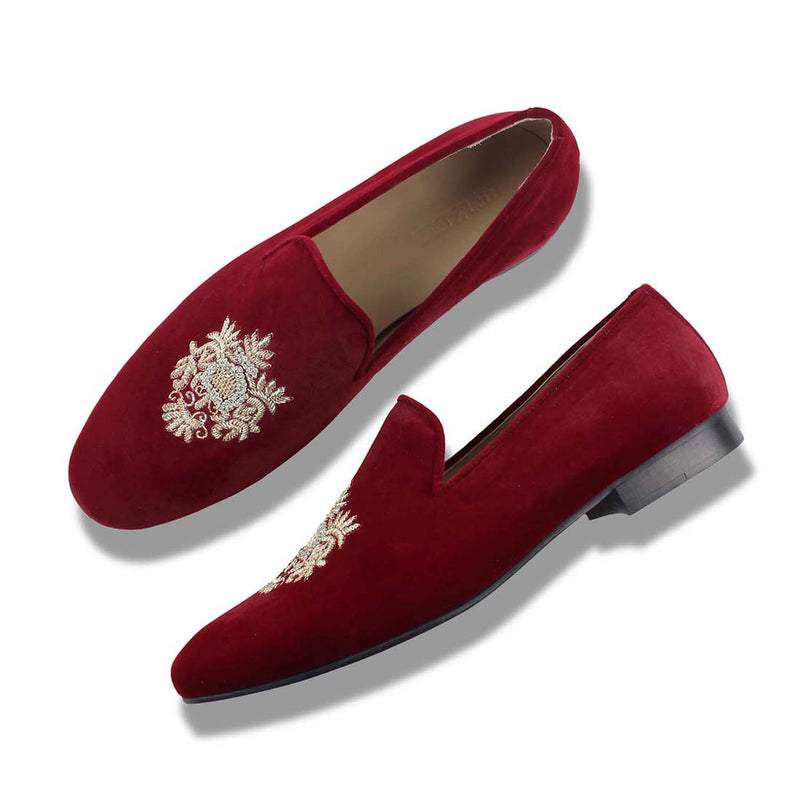 Burgundy Haris Veloure