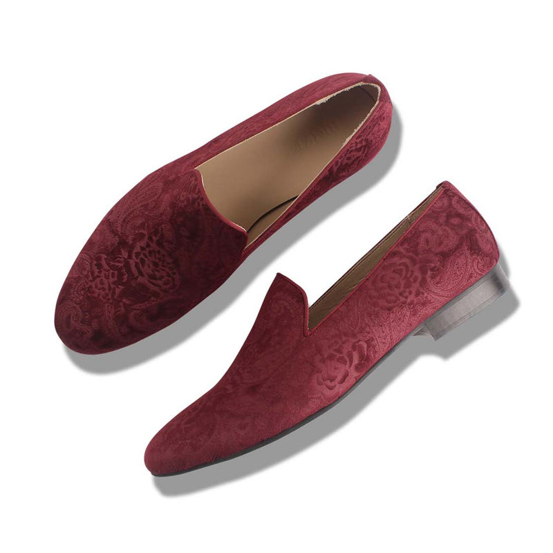 Burgundy Paul Veloure