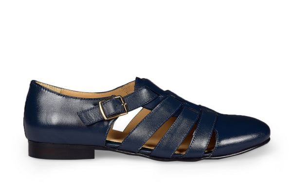 NAVY ROMAN LOAFER