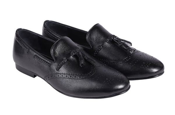 Noir Classic Smith Tassel Loafer