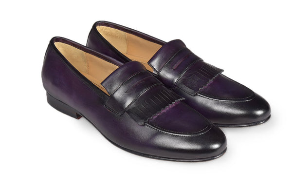 Purple Fringed Loafer