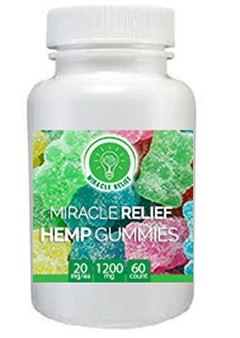A Full 1200mg Hemp Oil in 60 Chewable Gummy Bears- Providing Essential Nutrients in The Latest Superfood, Hemp