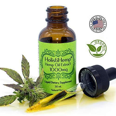 Hemp Oil Extract Full Spectrum 1000mg 30mL - Pain Relief - Anti Anxiety Social Anxiety- Depression Stress Support - Anti-Inflammatory - Brain Health with Omega 3,6 - Natural Flavor, Organic, Non GMO