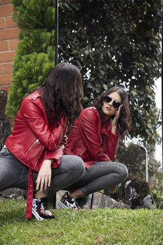 Chaqueta Tipo Cuero 8A073 | Faux Leather Jacket 8A073