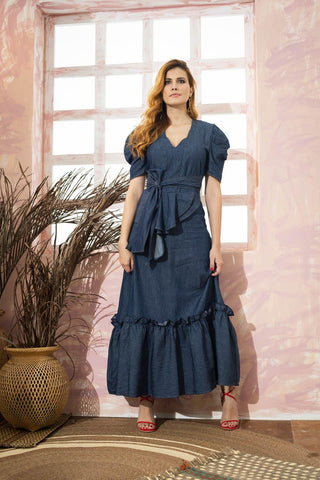 Vestido Denim 80112 |  Long Dress 80112