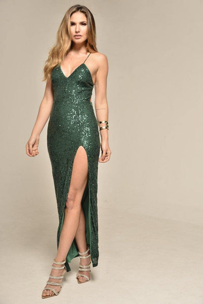 Vestido Largo Lentejuelas LD5979 | Sequin Long Dress LD5979