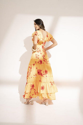 Vestido Largo Flores CD25765 | Long Flower  Dress CD25765