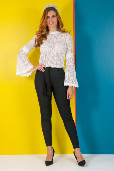 Blusa Encaje LUCY | Sheer Lace Shirt LUCY