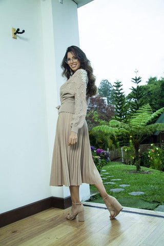 Falda Plisada 3089  |  Pleated Skirt 3089