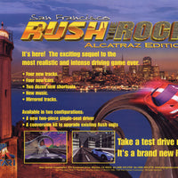 San Francisco Rush The Rock: Alcatraz Edition Arcade Driving Game