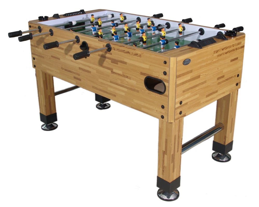 Premium Foosball Table in Butcher Block