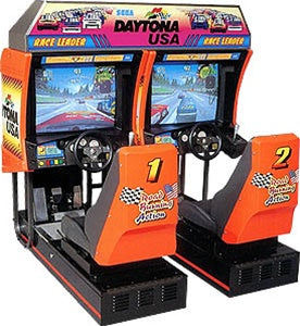 Daytona Twin Two Player Arcade Driving Game