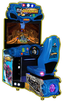 "H2O Overdrive 42"" Arcade Boat Racing Game"