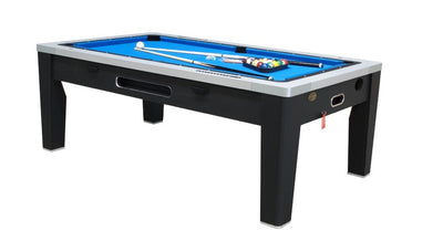 6 in 1 Combination Game Table in Black
