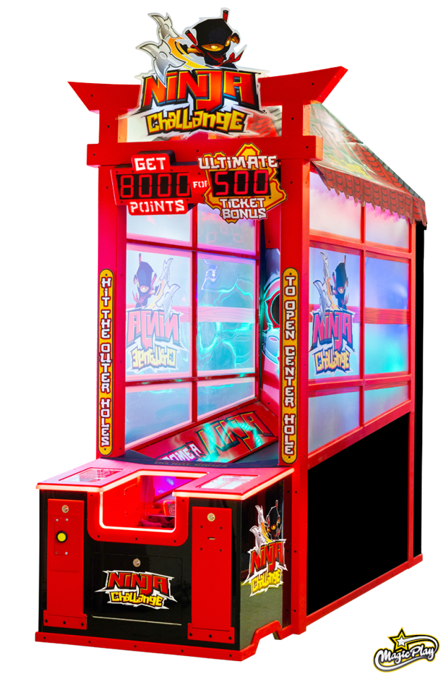Ninja Challenge Ticket Arcade Game
