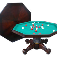 "3 in 1 Game Table - 54"" Octagon Poker/Bumper/Dining Dark Walnut"