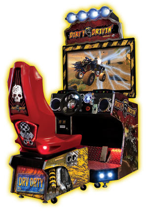"Dirty Drivin 42"" Arcade Driving Game"