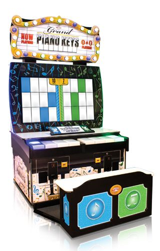 Grand Piano Keys Ticket Arcade Game