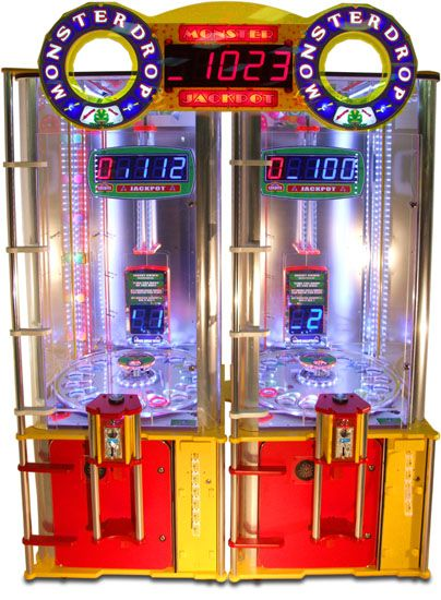 Monster Drop 2 Player Ticket Arcade Game