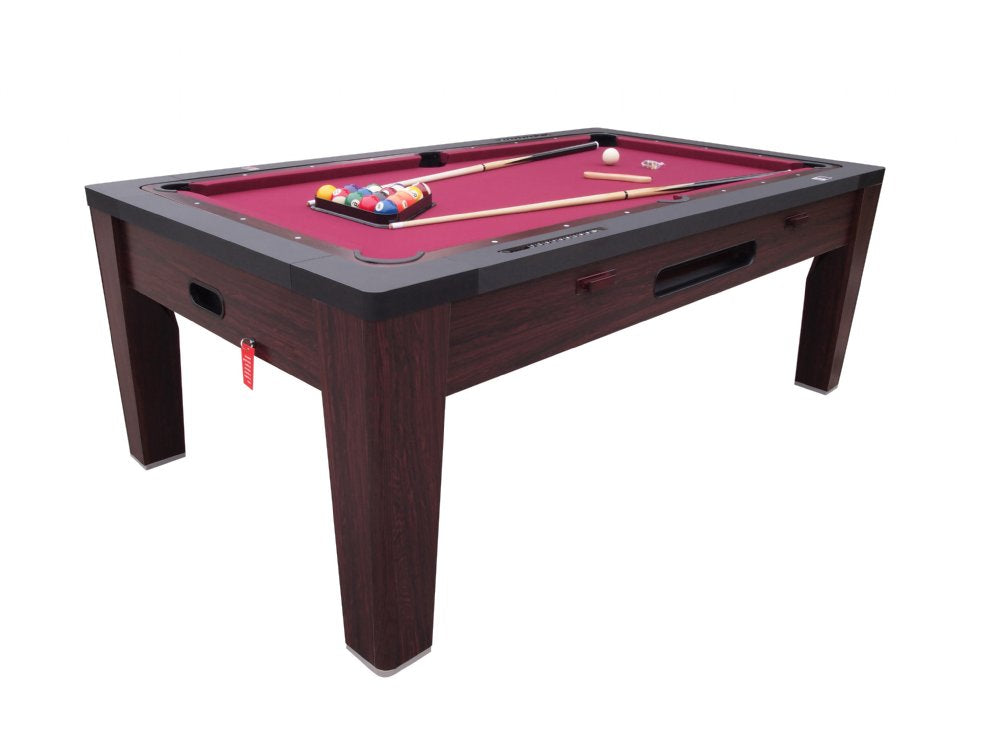 6 in 1 Combination Game Table in Walnut