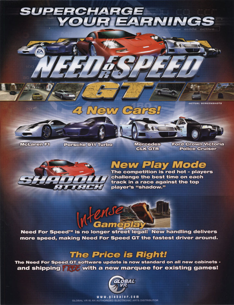 Need For Speed GT Arcade Driving Game