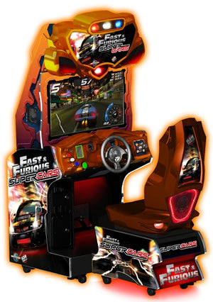 "Fast And The Furious Super Cars 42"" Arcade Driving Game"