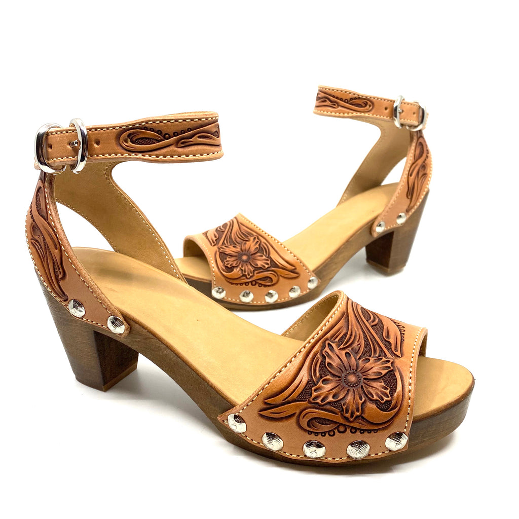 Tooled Low Heel