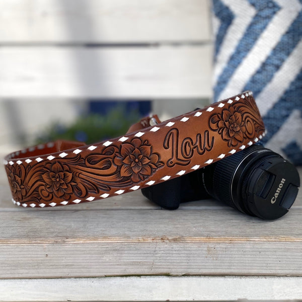 Custom Tooled Camera Strap