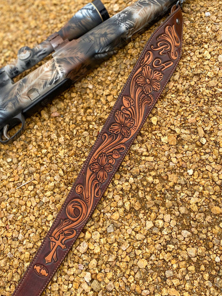 Custom Fully Tooled Rifle Sling