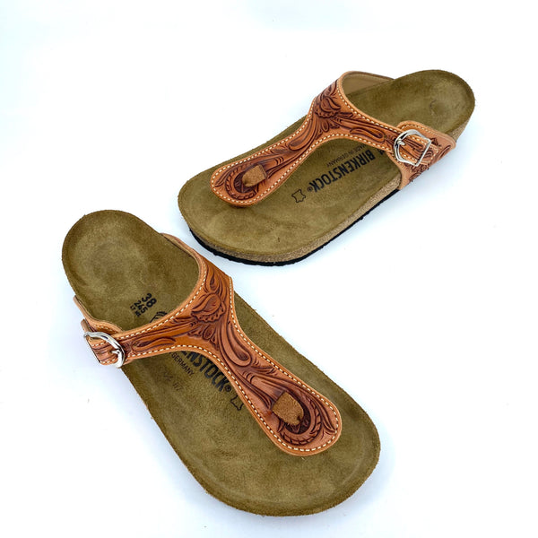 Tooled Birkenstock Sandal