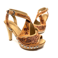 Tooled Cross Strap Stiletto DEPOSIT ONLY