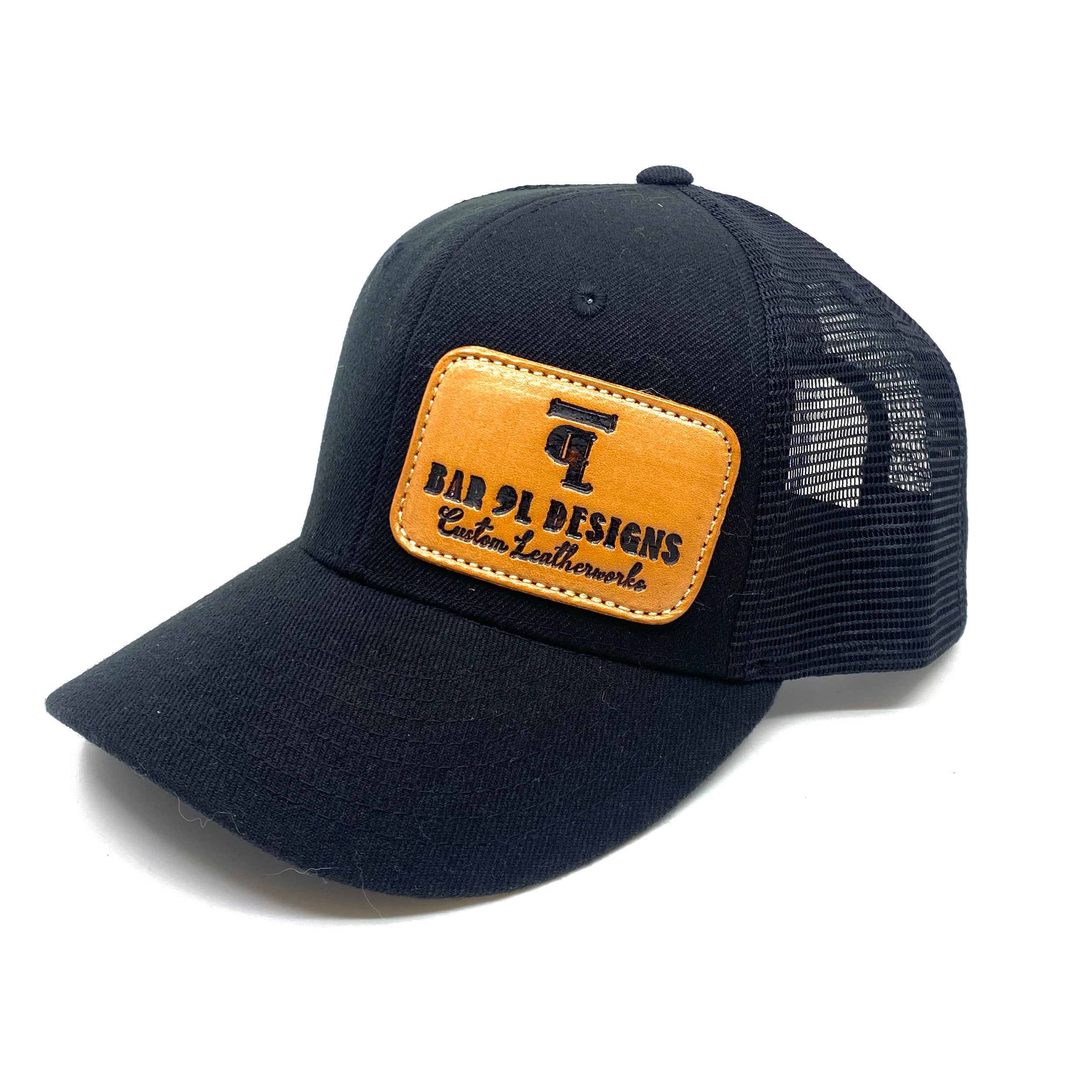 Bar 9L Leather Patch Hat