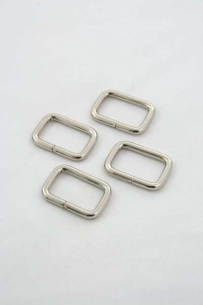 "Rectangle Ring 1"" Silver"