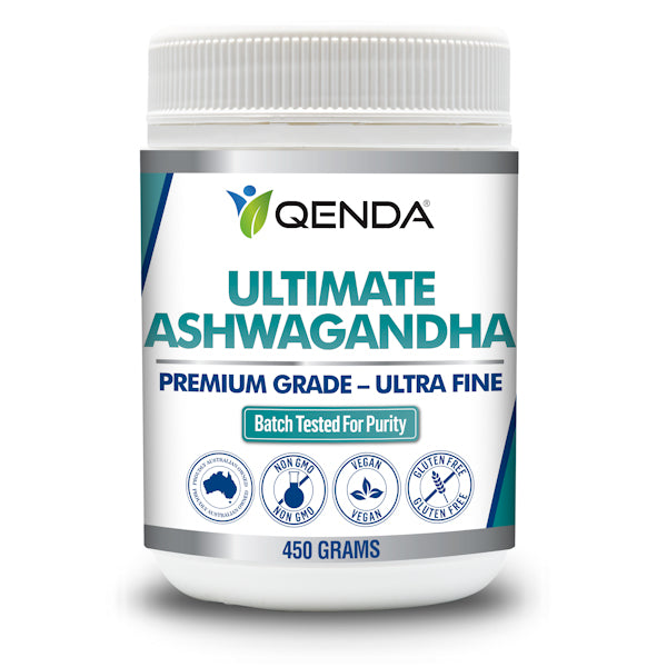 Qenda Ultimate Ashwagandha 450g (180 x 2.5g servings)