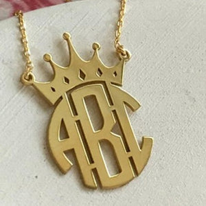 Monogram Crown Pendant