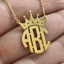 Load image into Gallery viewer, Monogram Crown Pendant