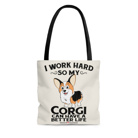 I Work Hard (Toasted) - Tote Bag