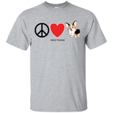 Peace Love Corgis (Front Only) Toasted