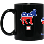 My Vote Corgis 11 oz. Black Mug