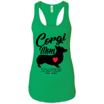 Corgi Mom (Front Only) Racerback Tank