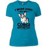 I Work Hard (Front Only) Boyfriend Tee - Merle
