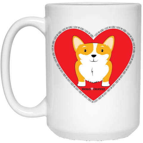 I Love My Corgi (Untoasted Red) 15 oz. White Mug
