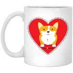 I Love My Corgi (Untoasted Red) 11 oz. White Mug