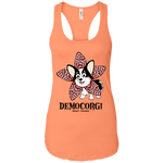 DemoCorgi (Front Only) Racerback Tank - Burnt