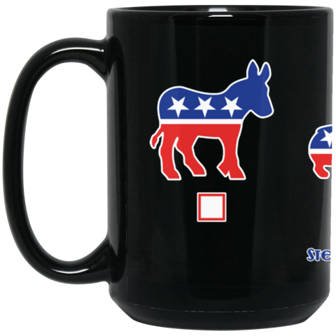 My Vote Corgis 15 oz. Black Mug
