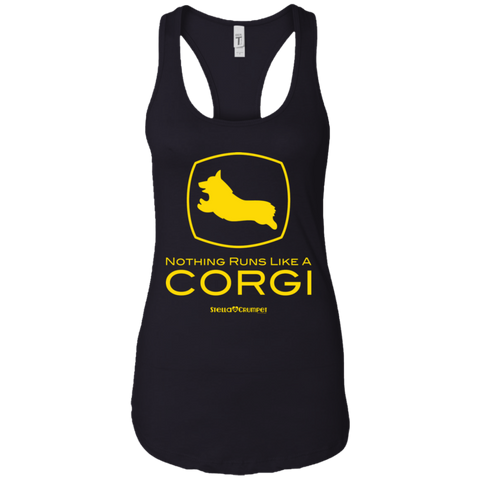 Runs like a Corgi (Front Only) Racerback Tank