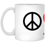 Peace Love Corgi (Toasted) 11 oz. White Mug