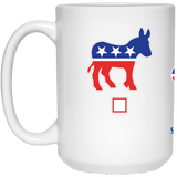 My Vote Corgis 15 oz. White Mug