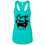 Corgi Mom - Pem w/Tail (Front Only) Racerback Tank